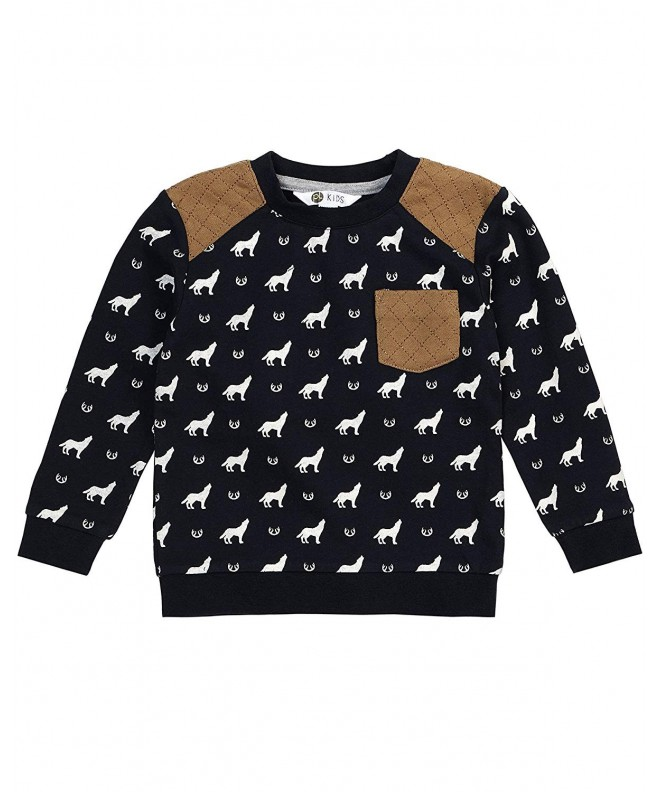 Petit Lem Boys Wolf Sweatshirt