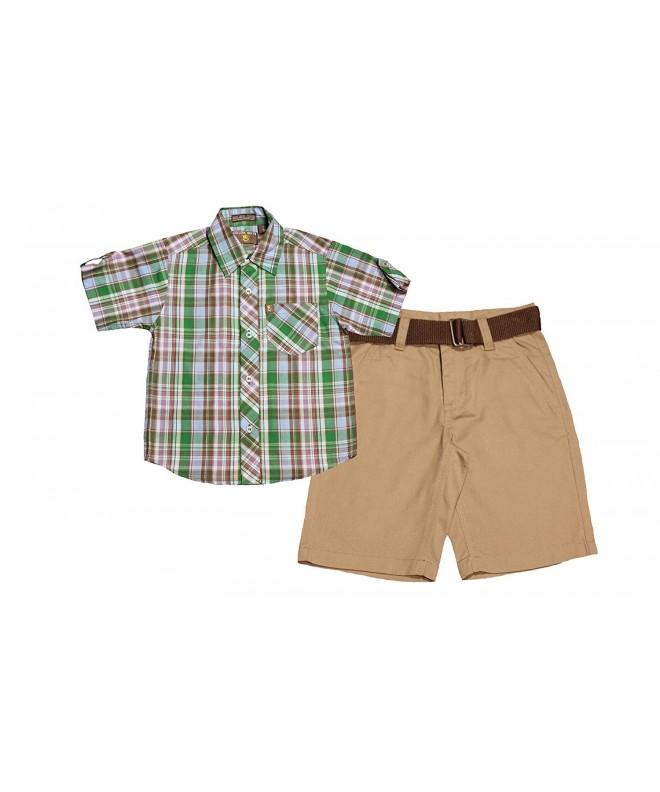 College Boyys Boys Sleeve Button Shorts