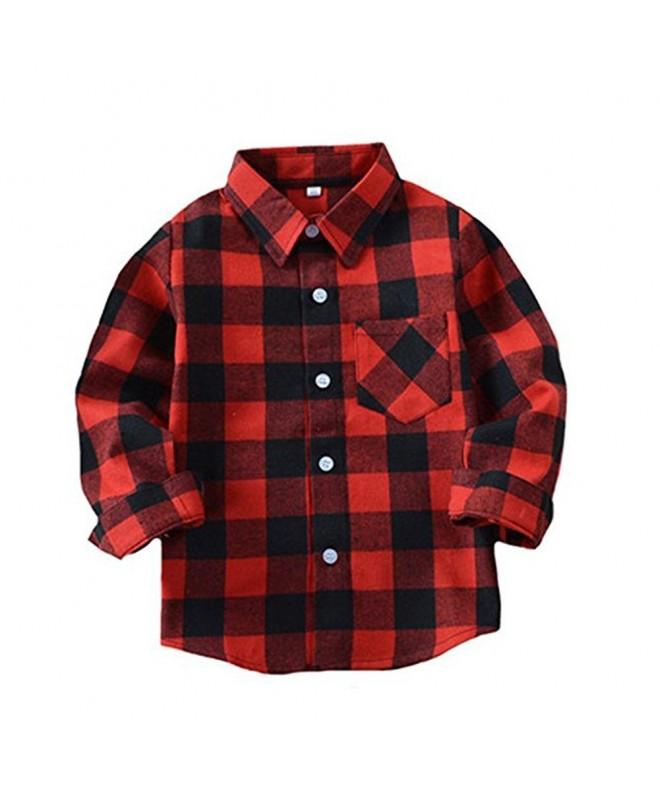 Little Sleeve Button Plaid Flannel