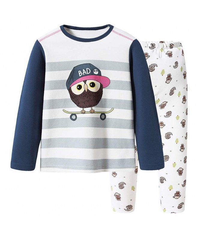 Threegunkids Christmas Cotton Pajamas Sleepwear