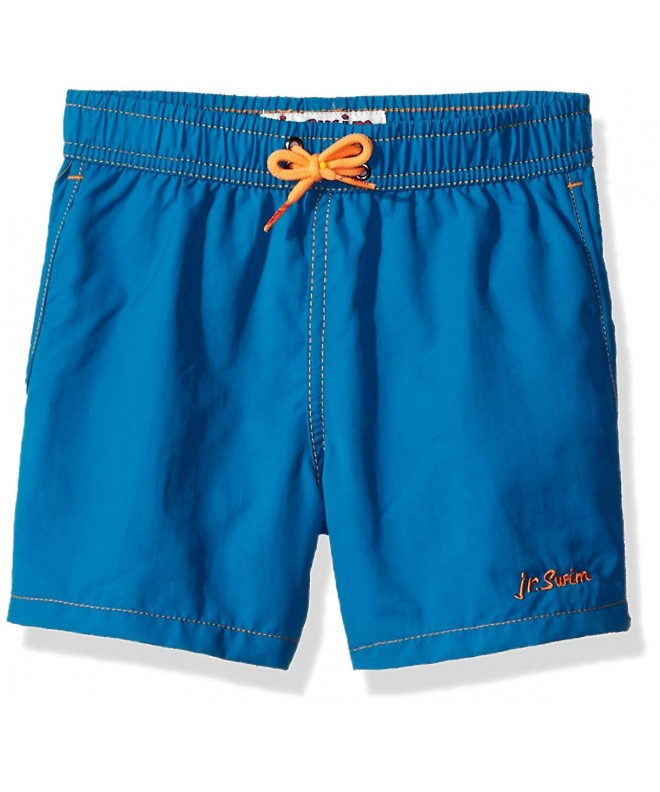 Jr Swim Solid Contrast Stitching