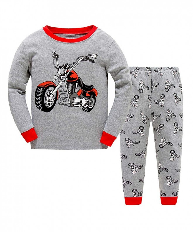 Motorcycle Pajamas Cotton Nightclothes Sleepwear