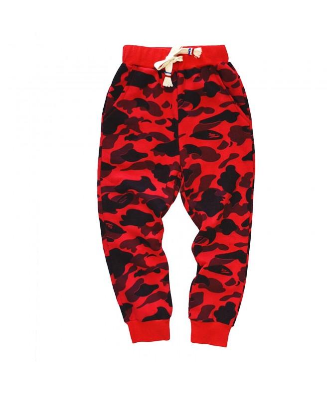 KISBINI Cotton Camouflage Sweatpants Children