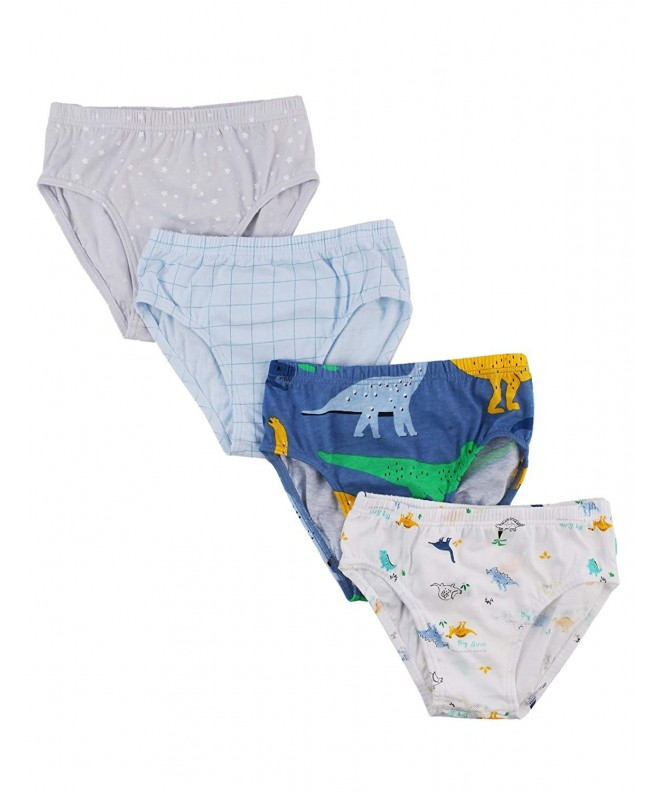 UniFriend Boys Assorted Briefs 4 Pack Tyranno