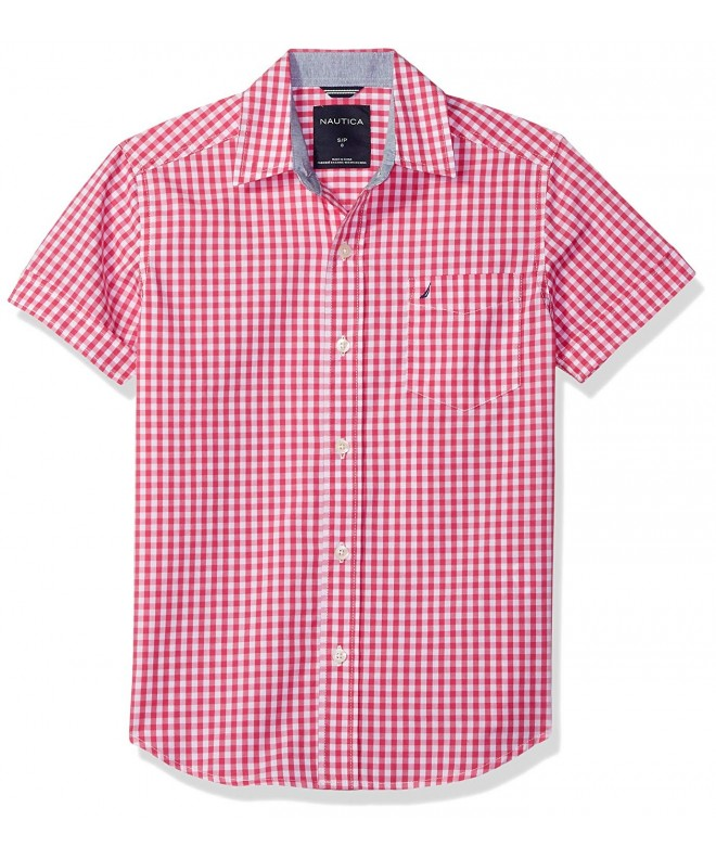 Nautica Short Sleeve Gingham Shirt