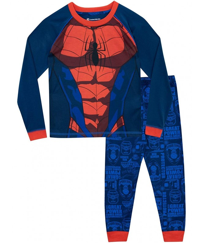 Spiderman Boys Spider Man Pajamas Blue