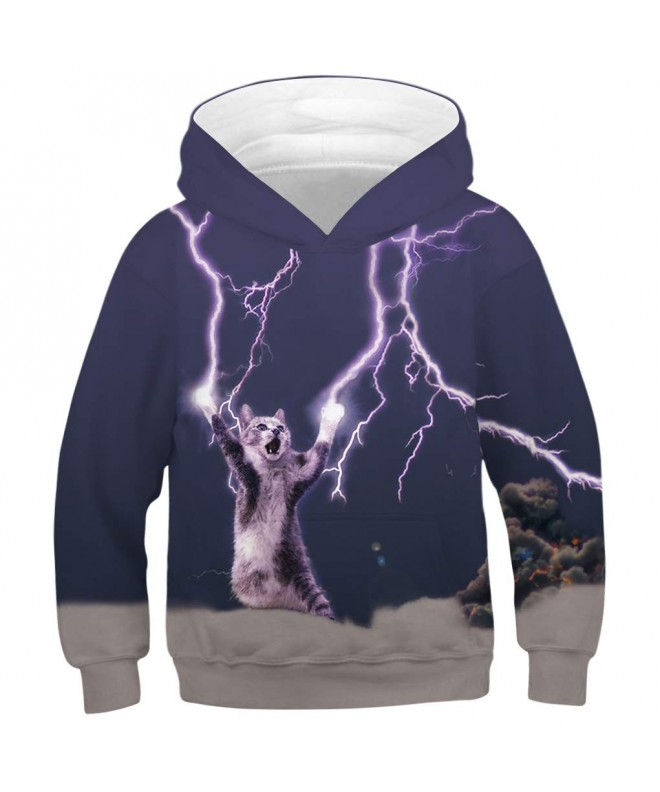 RAISEVERN Printed Unicorn Pullover Sweatshirt
