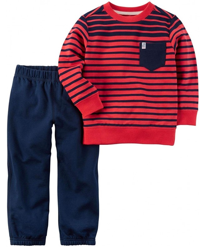 Carters 2T 4T 2 Piece Striped Shirt