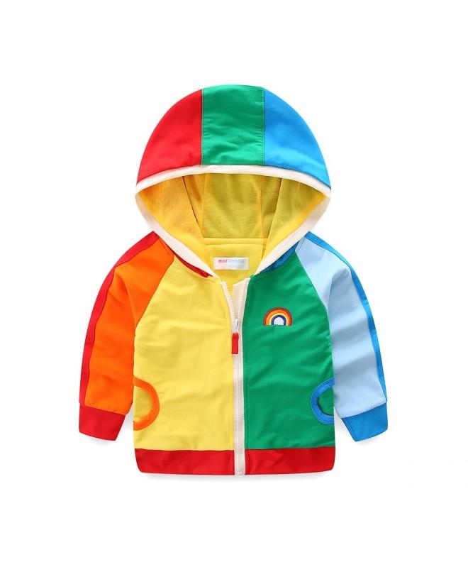 Mud Kingdom Sweatshirt Rainbow Patchwork