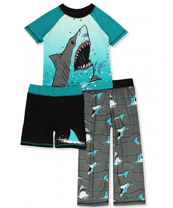 Komar Dinosaur Shark Shorts Pajamas