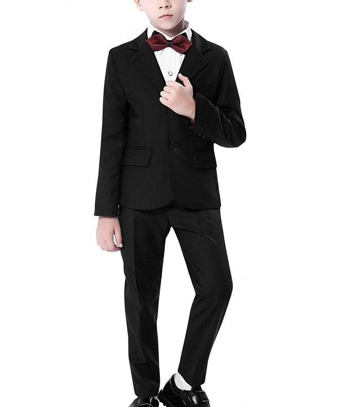 Aivtalk 4Piece Formal Blazer Bowtie