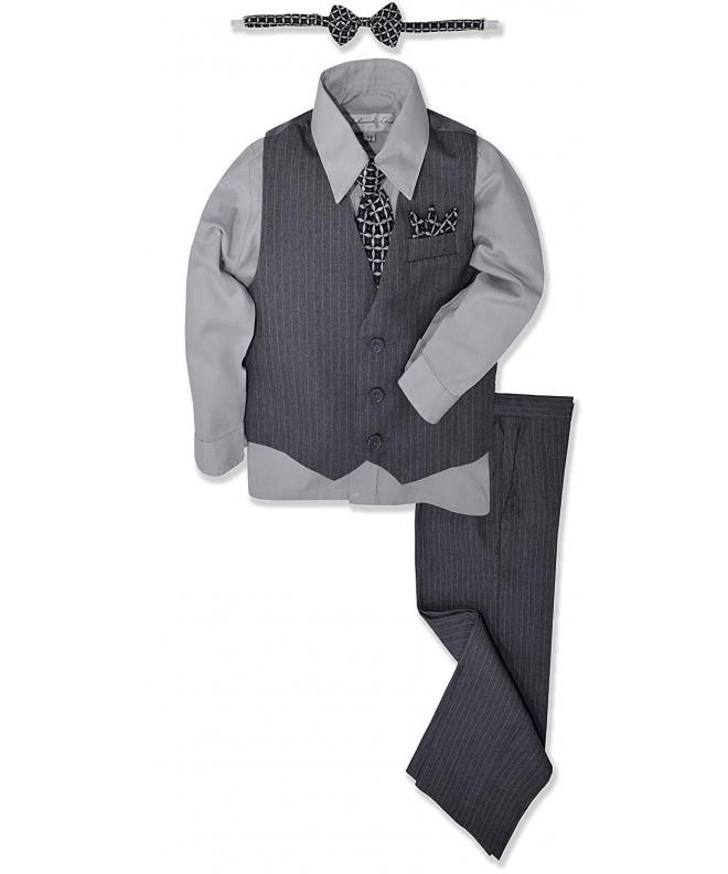 JL40 Pinstripe Formal Dresswear Silver