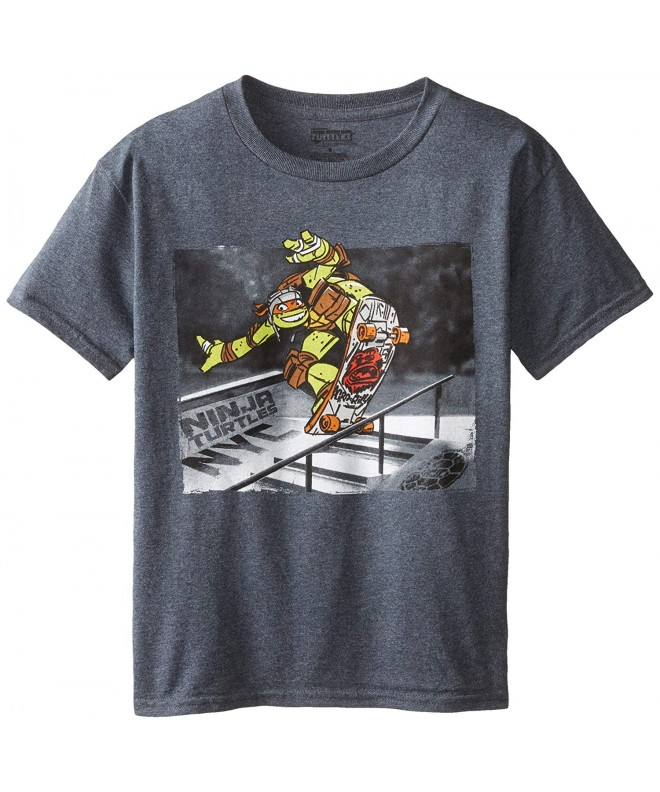 Teenage Turtles Photoreal T Shirt Charcoal