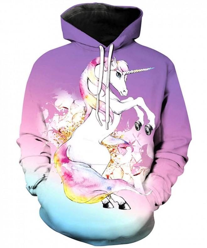 KIDVOVOU Unicorn Sweatshirts Pullover Hoodies