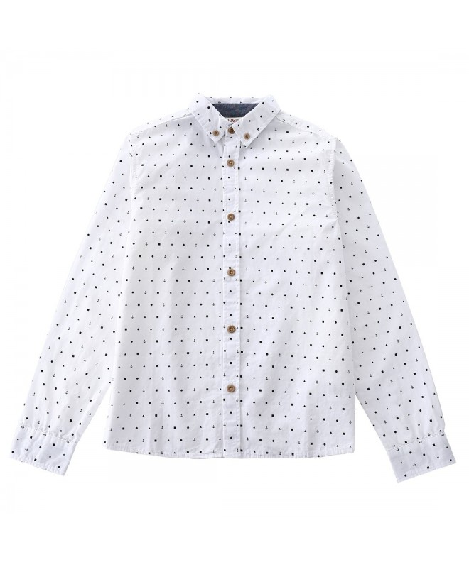 MOMOLAND Sleeve Poplin Button Prints