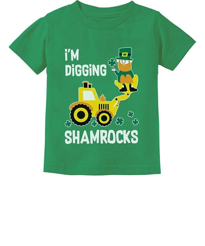 Tstars Digging Shamrocks Patricks Tractor