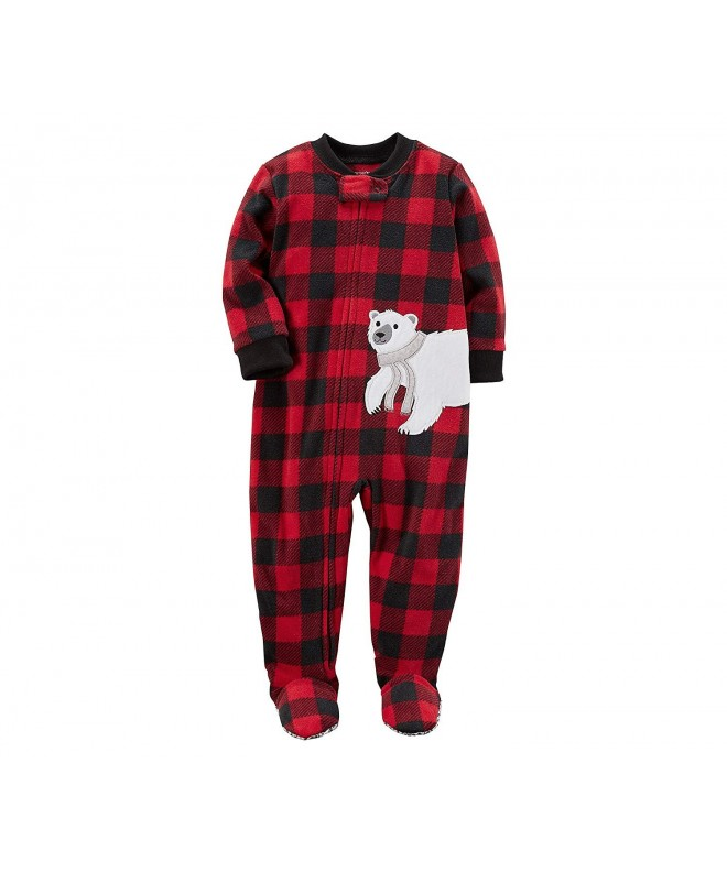 Carters Toddler Plaid Fleece Sleeper