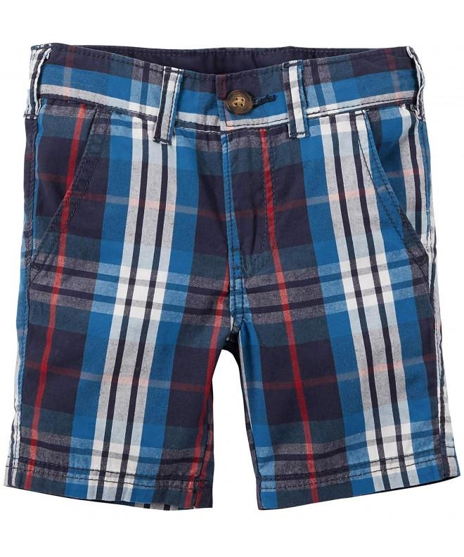 Carters Boys White Plaid Shorts