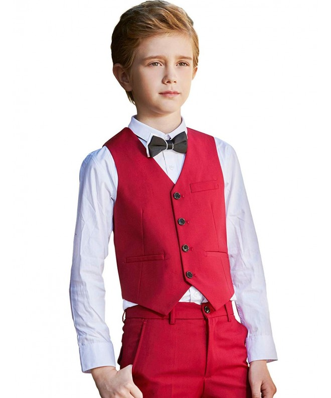 Boys Vest Shirt Bowtie Pants