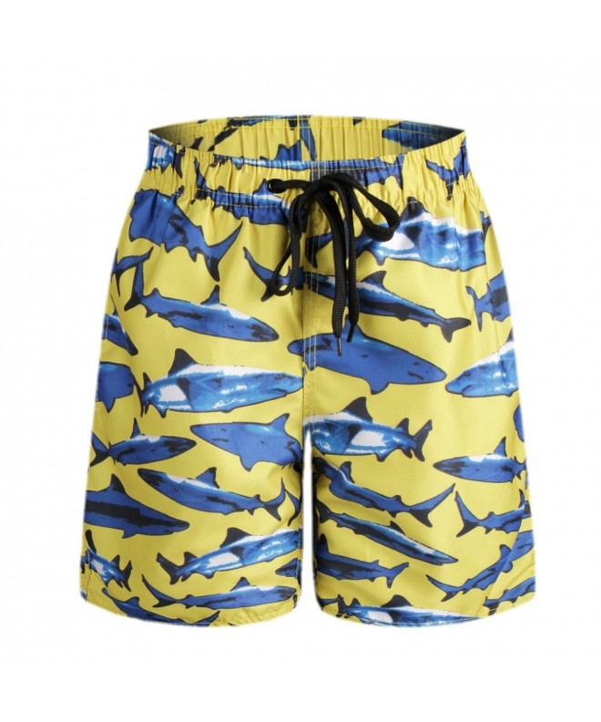 QRANSS Printed Trunks Shorts Pockets