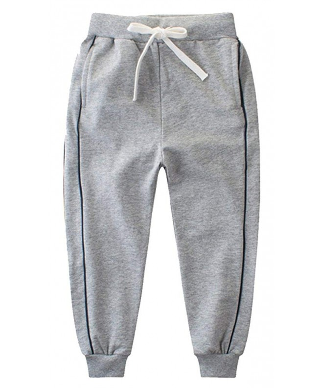 KISBINI Cotton Elastic Sweatpants Children