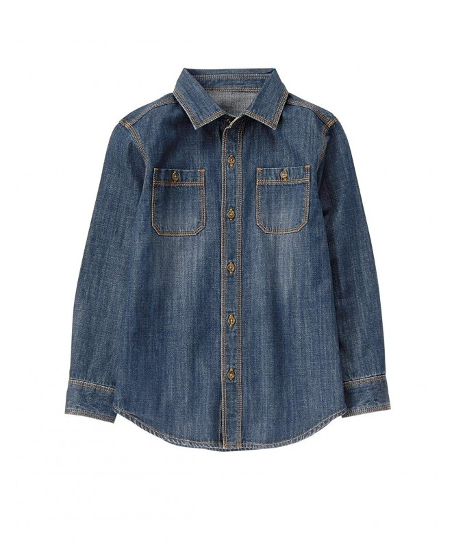 Crazy Long Sleeve Denim Button Shirt