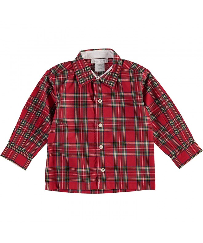 Carriage Boutique Boys Plaid Shirt
