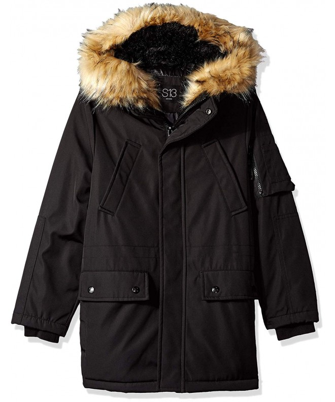 S13 Boys Blizzard Parka Faux