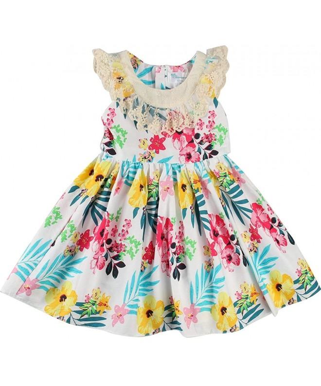 Sharequeen Sleeveless Children Embroidery Dresses