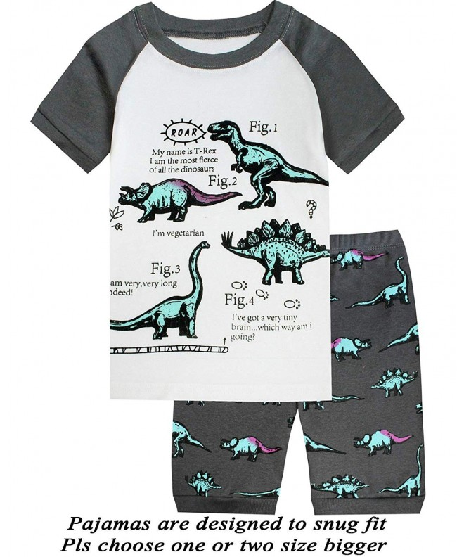 Pajamas Dinosaur Toddler Clothes Sleepwear