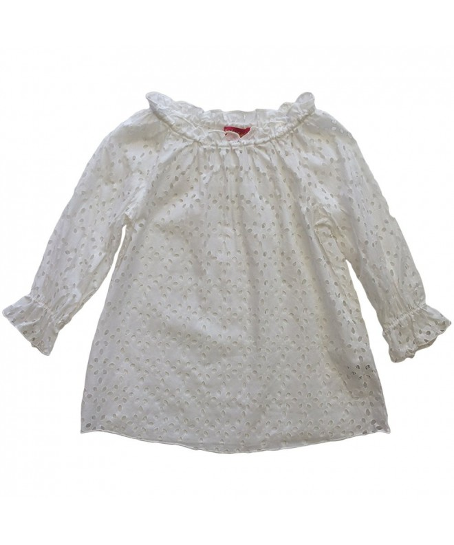 Biscotti Little Girls White Eyelet