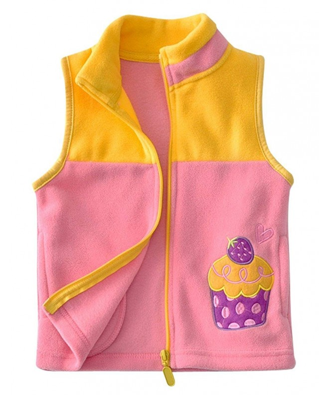 Happy Cherry Cartoon Fleece Waistcoat