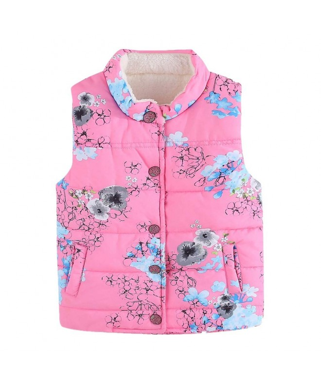 LittleSpring Girls Lightweight Floral Fleece