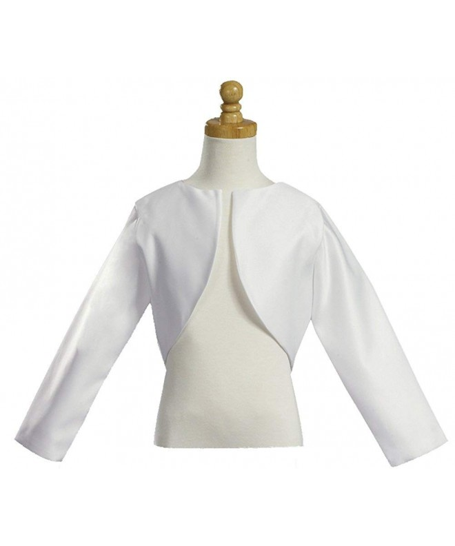 Girls White Sleeve Bolero Jacket