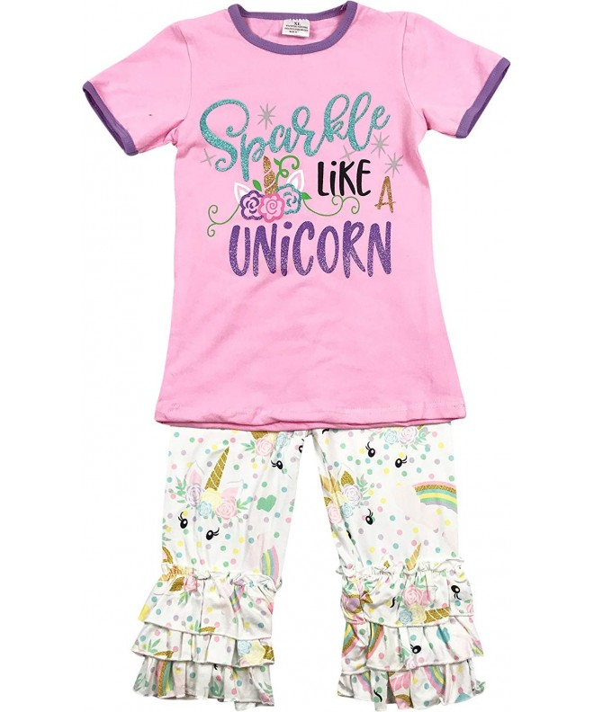Little Unicorn T Shirt Capris Clothing