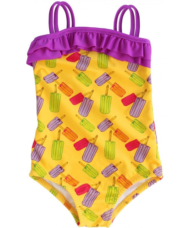 Subibaja Piece Printed Ruffles Swimsuit