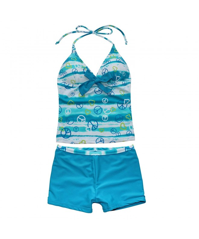 ACSUSS Tankini Halter Bottoms Swimsuit