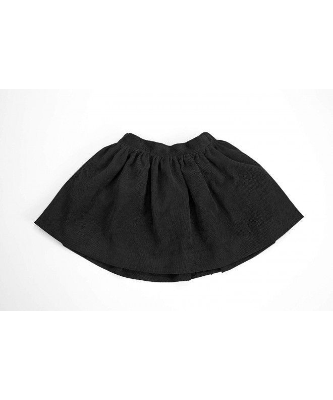 EVERBLYSS Black Corduroy Skirt