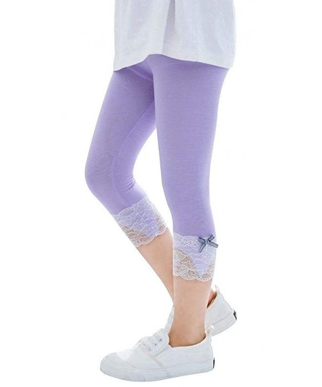 DealHouse Cropped Leggings Tights Bowknot