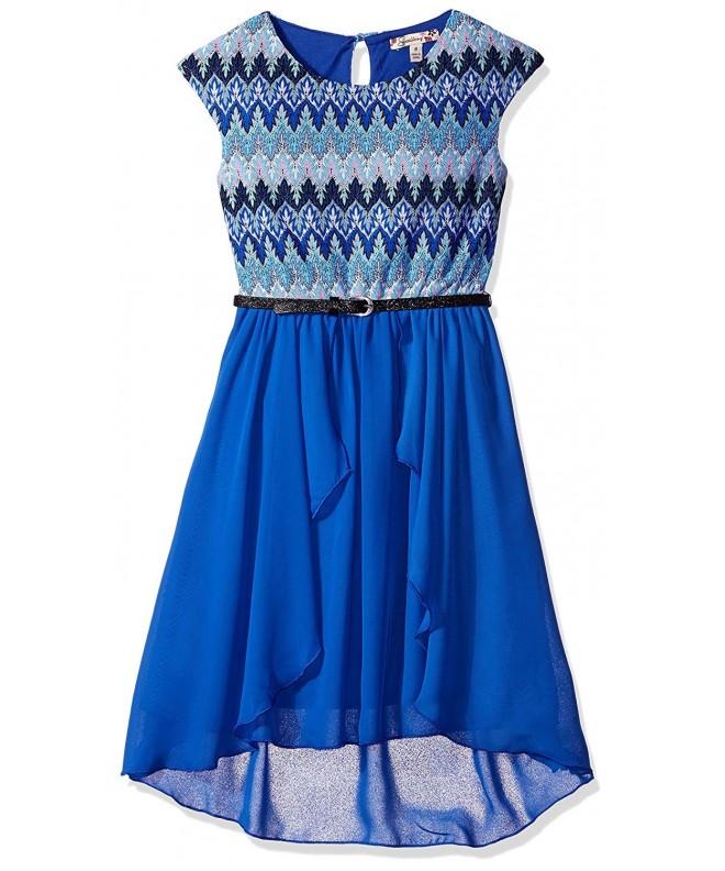 Speechless Girls Chiffon Shoulder Dress