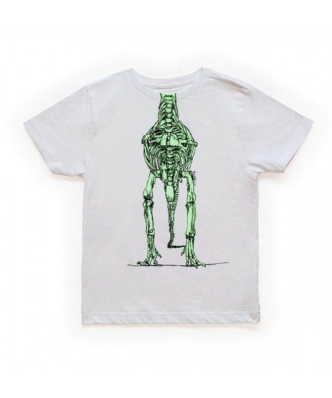 Roobrics Kids T Rex Skeleton T Shirt