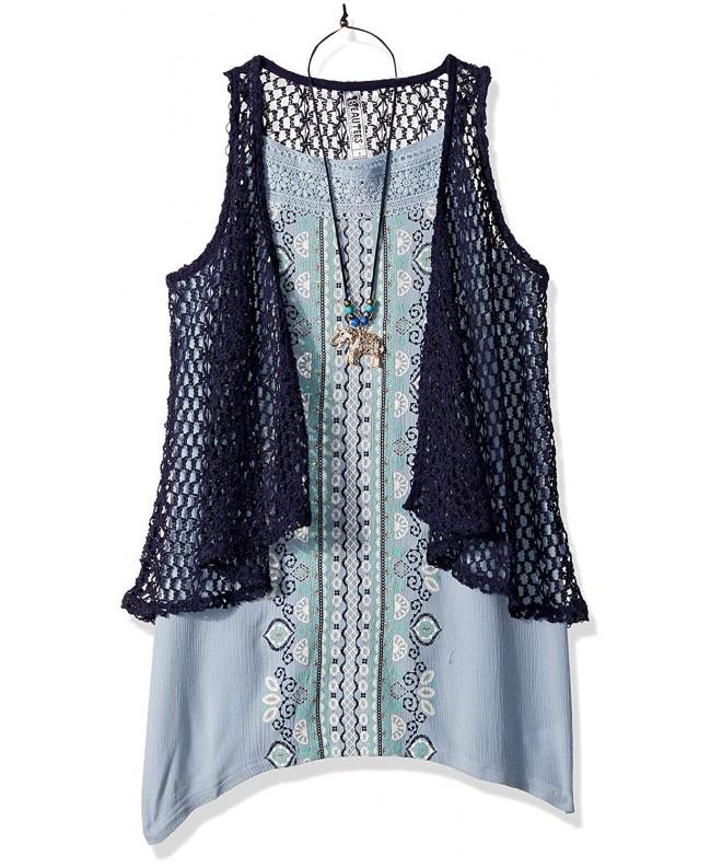 Beautees Girls Crochet Cozy Over