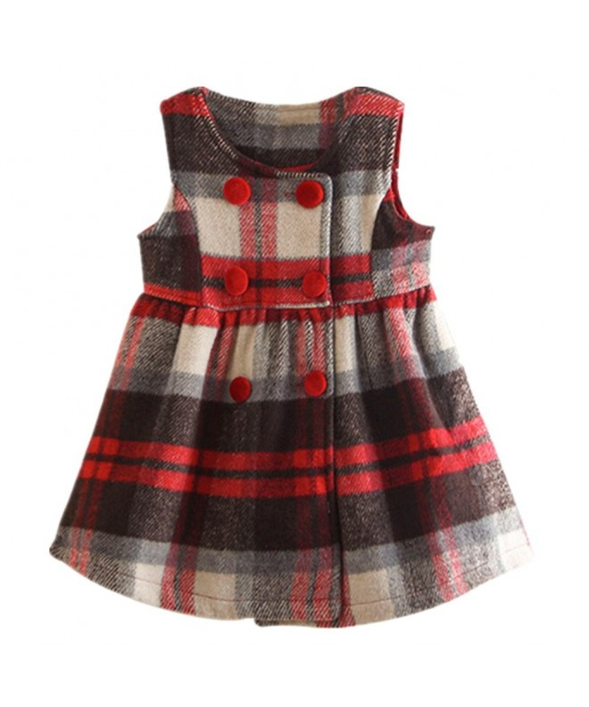LittleSpring Little Girls Dress Plaid