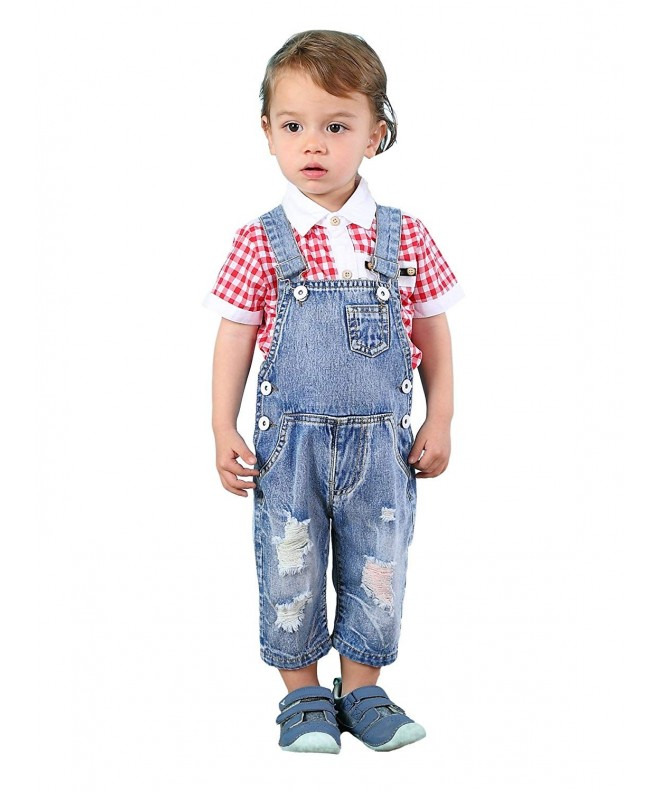 Kidscool Toddler Colorful Ripped Shortalls