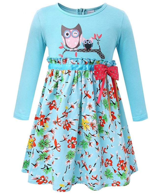 Pattern Printed Cotton Pleated Dresses