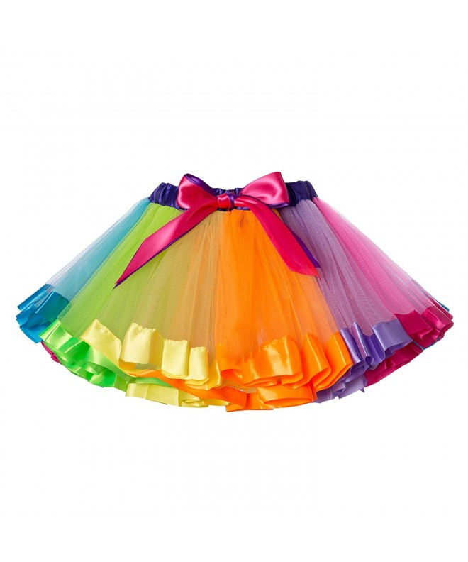 JiaDuo Girls Layered Rainbow Ruffle