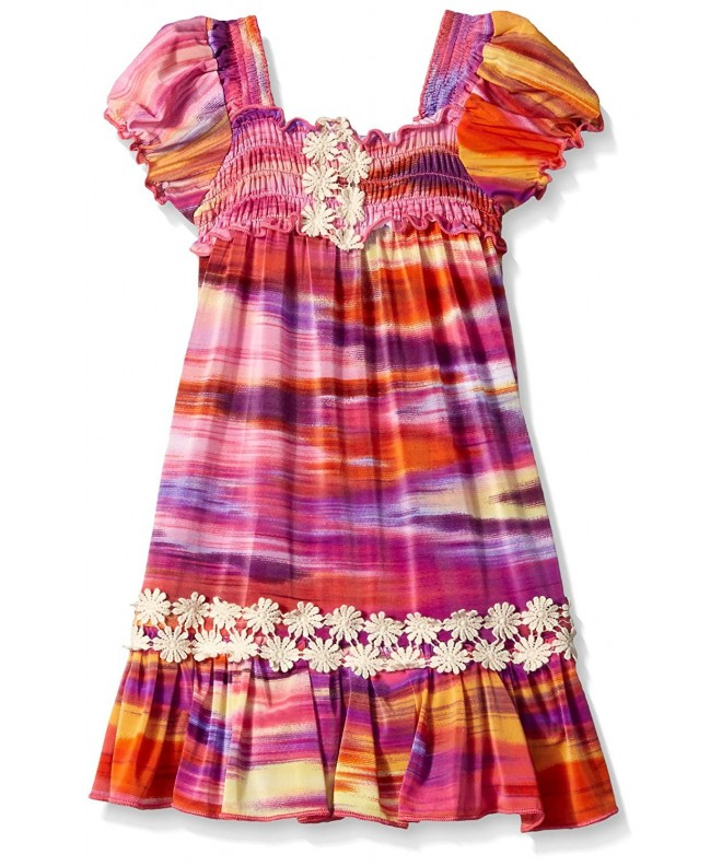 Elisabeth ED70H PINK Girls Smocked