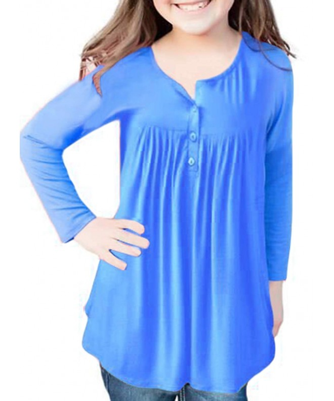 Azokoe Fashion Sleeve Button Blouses