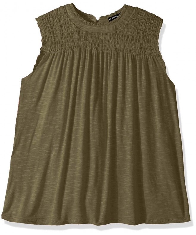 My Michelle Girls Ruched Sleeveless