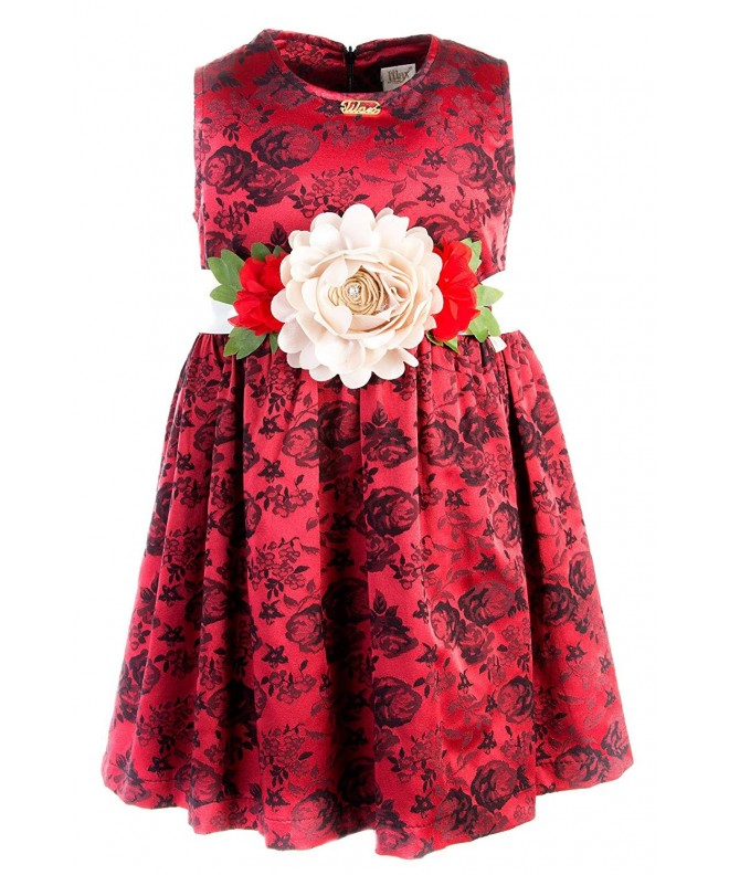 Lilax Girls Flocked Holiday Dress